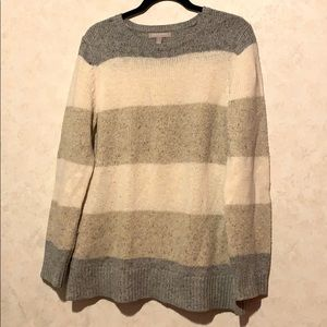 Banana republic striped chunky knit sweater